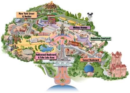 Disney Hollywood Studio Map Hollywood Studios Map
